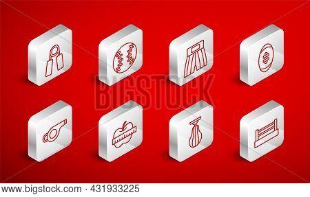 Set Line Boxing Ring, Baseball Ball, Short, American Football, Punching Bag, Sport Expander, Apple M