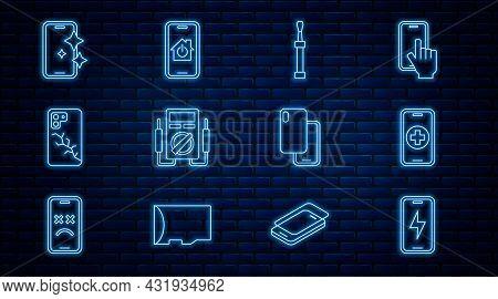 Set Line Mobile Charging Battery, Phone Repair Service, Screwdriver, Multimeter, With Broken Screen,