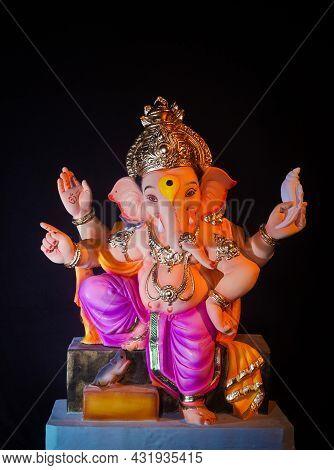 Ganesh Chaturthi, Lord Ganesh With Black Background