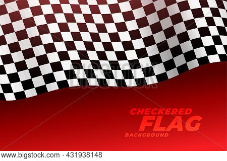 3d Realistic Racing Flag Checkered Background Vector Design Illustration