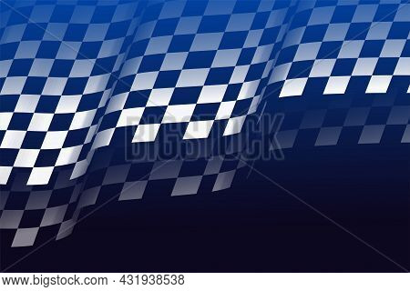 Racing Flag Checkered Background In 3d Style Vector Design Illustration
