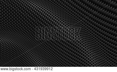 Realistic Carbon Fiber Texture 3d Background Vector Design Illustration