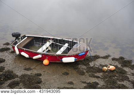 Boat In Sea Water For Tranquility Calm Peace And Mindfulness