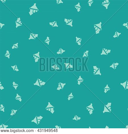 Green Sales Funnel With Chart For Marketing And Startup Business Icon Isolated Seamless Pattern On G