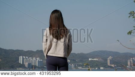 Woman look at the scenery view