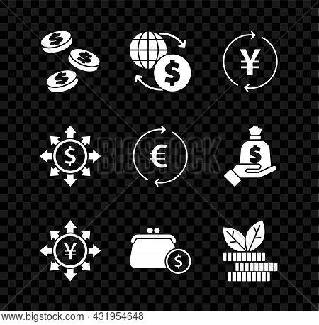 Set Coin Money With Dollar, Money Exchange, Yen, Wallet Coins, Dollar Plant, Dollar, Share, Network