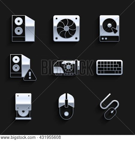 Set Video Graphic Card, Computer Mouse, Keyboard, Optical Disc Drive, Case Of Computer, Hard Disk Hd