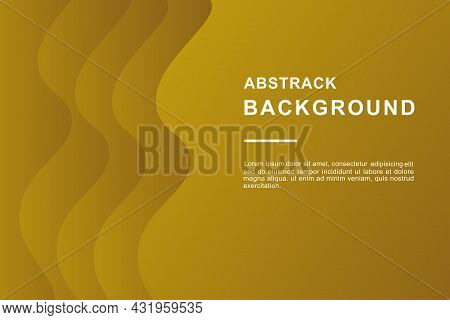 Wavy Abstract Background With Overlapping Layers Papercut Style