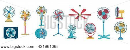 Electric Fan. Home And Office Air Blower With Blades. Cooling Floor And Desktop Machine. Ceiling Mou