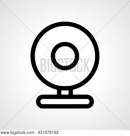 Webcam Line Icon. Webcam Isolated Simple Vector Icon.