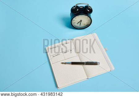 Time Management, Deadline And Concept Of Proper Planning And Organization Of Time: An Open Organizer