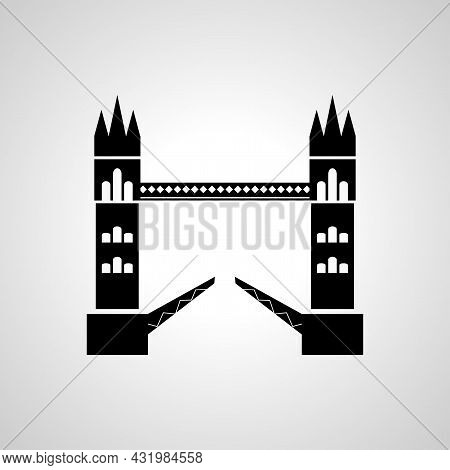 Tower Bridge Isolated Vector Icon. Bridge Design Element