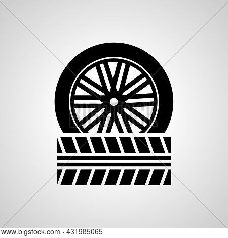 Car Wheels Simple Icon. Wheels Vector Icon