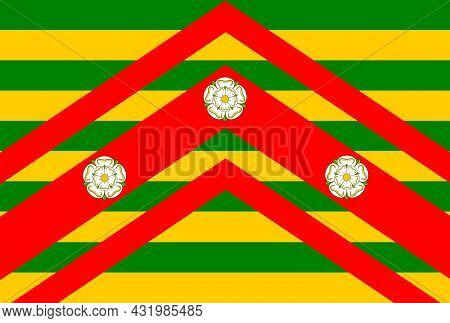 County Flag Of East Riding Of Yorkshire Council That Represents East Riding Of Yorkshire Council In