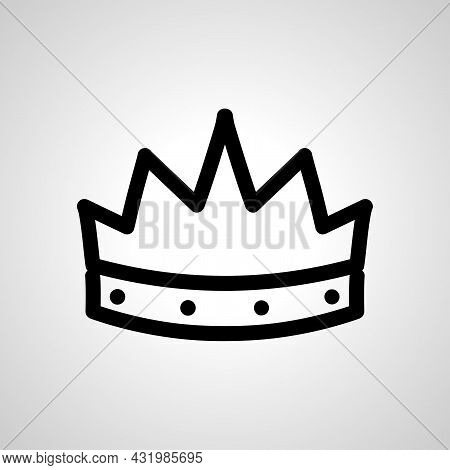 King Crown Line Icon, King Crown Simple Line Icon
