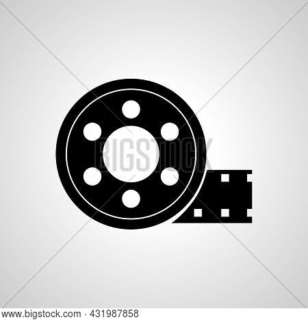 Film Reel Line Icon, Film Tape Simple Line Icon