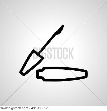 Mascara Brush Simple Line Icon. Mascara Brush Isolated Icon.