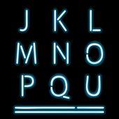 Vector Neon Tube Alphabet Letters, part 2 poster