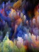 Design composed of colorful fractal turbulence as a metaphor on the subject of fantasy dreams creativity imagination and art poster