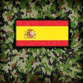 Amy camouflage uniform with flag on it Spain poster