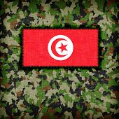 Amy camouflage uniform with flag on it Tunisia poster