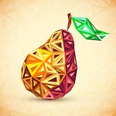 Abstract vintage colors triangles vector pear. This is file of EPS10 format. poster