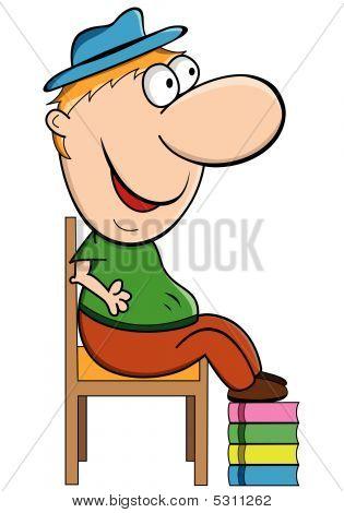 Short Man Cartoon Character