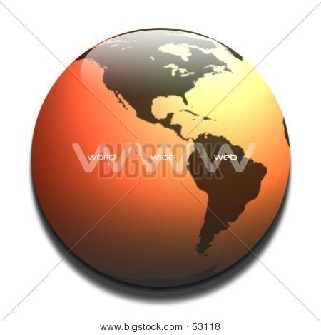 WWW Graphic In Orange