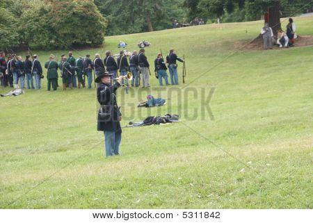 Union Bugler Playing Taps
