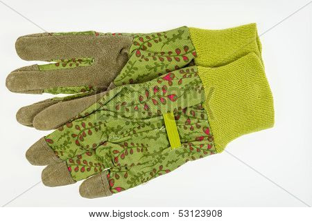 Garden Gloves With Leather Palm