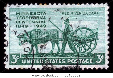Pioneer And Red River Oxcart