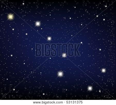 cosmos. Constellation URSA Major star in the night sky. Vector illustration