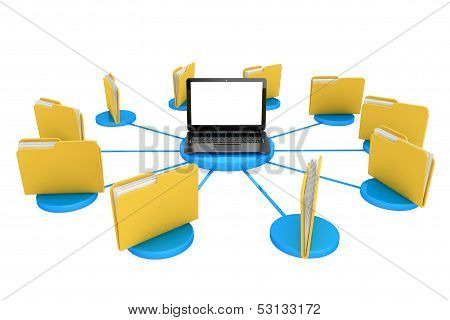 Computer With Folders