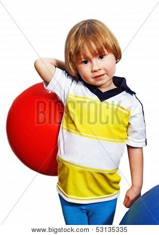 A Boy With A Ball.