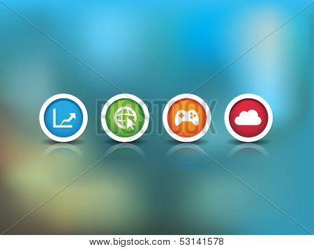 Technology Background Icons