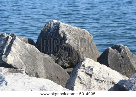 Rocks on the water