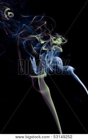 Smoke and candle