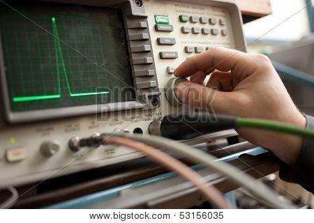 Spectrum Analyzer panel with hand