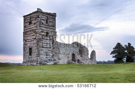 Church Ruins At Dusk