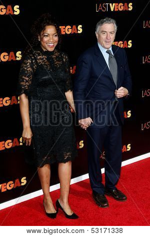 NEW YORK- OCT 29: Robert DeNiro (R) and wife Grace Hightower attend the premiere of