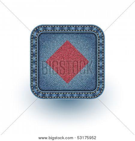 Denim poker. Vector illustration. Eps 10
