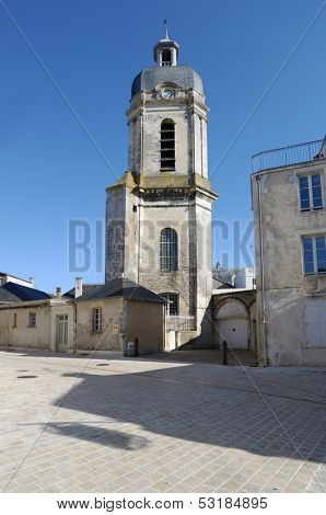 Bishopric and the church St-Jean-Du-Perot in La Rochelle, Poitou-Charentes, France
