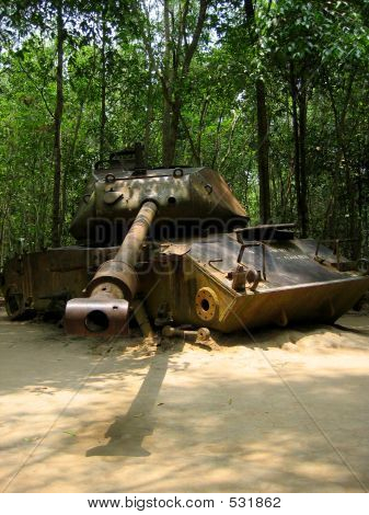Out Of Service Tank In The Jungle
