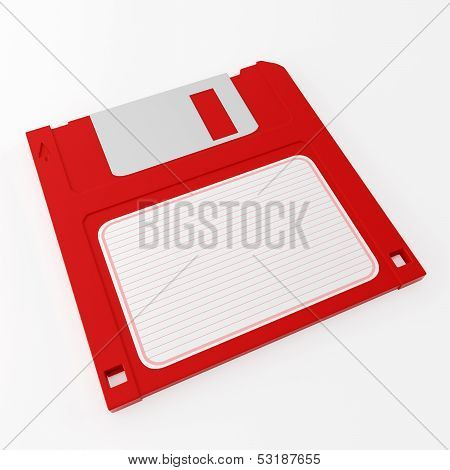 Red Floppy Disk