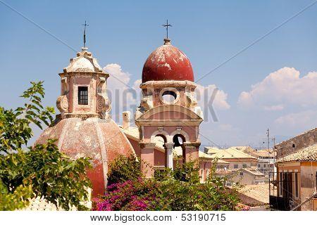 View Of The Corfu Town. Kerkyra Or Korkyra, Greek Island