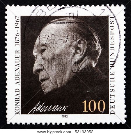 Postage Stamp Germany 1992 Konrad Adenauer, Chancellor
