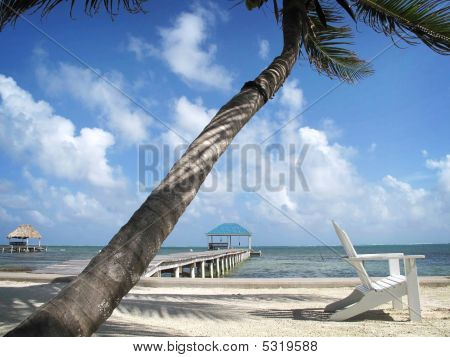White Chair On The Beach