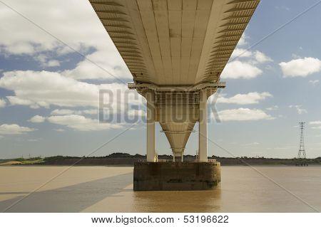 The Severn Bridge, Suspension Bridge Connecting Wales With England.