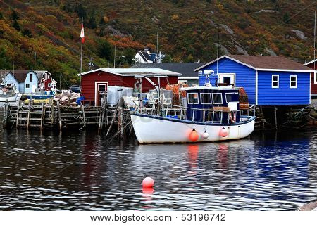 Pier For Crab Fishing Boats And Equipment Petty Harbor, Newfoundland, Canada