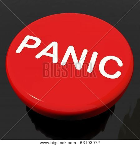 Panic Button Shows Anxiety Panicking Distress
